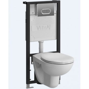 Инсталляция с подвесным унитазом комплект VitrA Normus 9773B003-7203