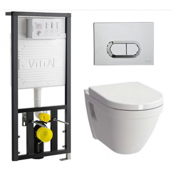 Безободковый унитаз с инсталляцией VitrA S50 9003B003-7201