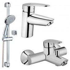 Набор смесителей VitrA Dynamic S A49152EXP для ванны штанга, душ, смесители